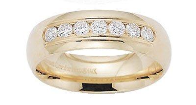 Benchmark - 14 K Yellow Gold Channel Diamond Comfort Ring Reg $1,563