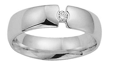 Benchmark - 6mm Diamond Comfort Fit Promise Ring Reg. $1034.99