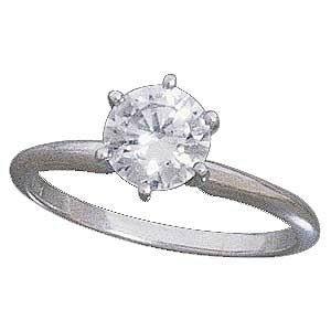 Gorgeous 14K White gold 1 Carat Engagement Ring Reg. $195