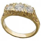 14 K Gold Engagement ring 3/4 Carat Lab Created Diamonds Reg. $368