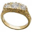14 K Gold Engagement ring 3/4 Carat Lab Created Diamonds Reg. $368