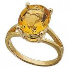 14 K Gold and 5 Ct. Genuine Citrine - Magnificent! Reg $414