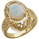 14 K Gold sculptured Oval Opal Cabochon Ring Reg. $529
