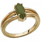 14K Designer Yellow Gold with Jade Cabochon Ring Reg. $276
