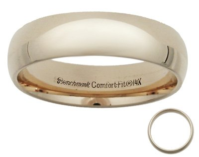 Benchmark - 6mm 14 K Gold Comfort Wedding Band Reg $344