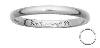 Benchmark - 2mm 14 K White gold Band Reg $172