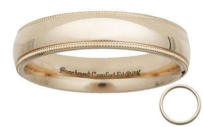 Benchmark - 5mm Comfort 14 K Yellow Gold Milgrain Band Reg $287