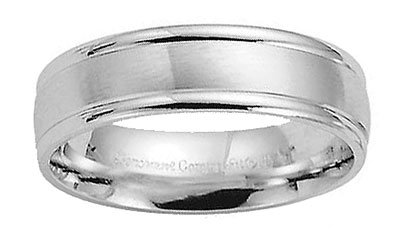 Benchmark - 6mm Comfort Fit 14 K White Gold Designer Band Reg $574