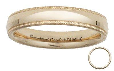Benchmark - 4mm 14 K Yellow Gold Comfort Milgrain Band Reg $229