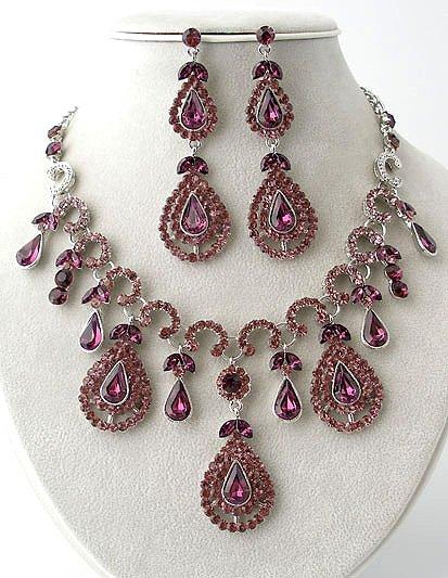 Queen Elizabeth - Rhinestone Necklace/Earring Set Reg $89.99