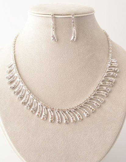 Lovely Clear Rhinestone Necklace/Earring Set Reg $49.99