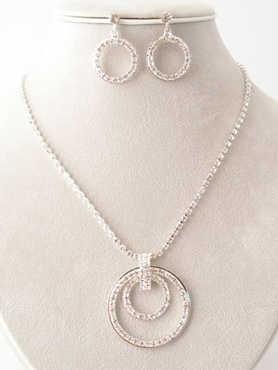 Circle of Life Necklace/Earring Set with CZ's Reg $38.99
