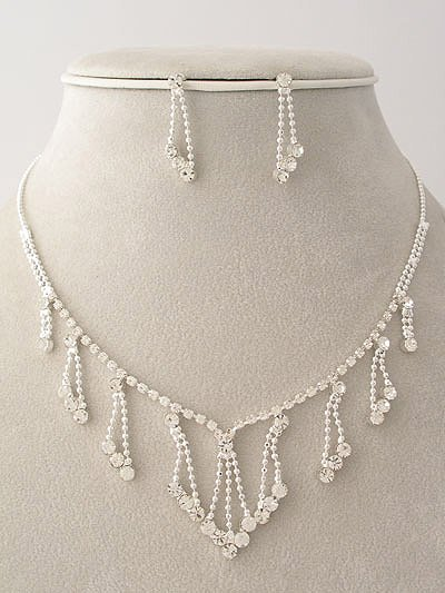 Evening - Bridal and Prom Wear Necklace/Earring Set Reg $36.99