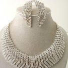 """Cleopatra"" Rhinestone Necklace/Earring Set Reg $139"