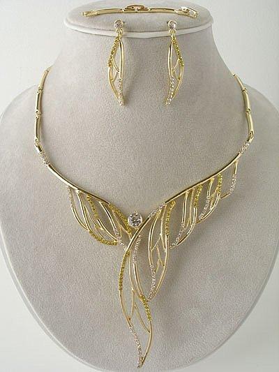 Designer Gold Plated Necklace/Earring Set Reg $69.99
