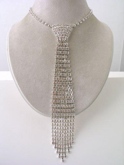 HK Design Rhinestone Necktie - Very popular Reg $73.99