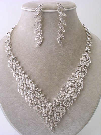 """Fancy"" Designer Necklace/Earring Set Reg $47.99"