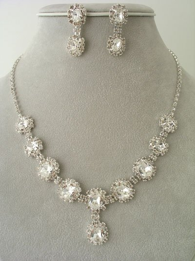 """Lilly"" Cluster shaped Necklace/Earring Set Reg $69.99"