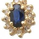 Sapphire and Diamond Cluster Earrings Reg $287