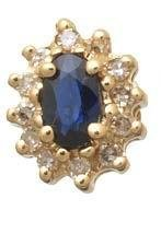 Sapphire and Diamond Cluster Earrings Reg $287