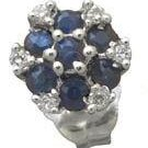 Sapphire and Diamond Earrings Reg $299