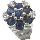 Sapphire and Diamond Earrings Reg $299