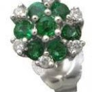 Emerald and Diamond Earrings Reg $310