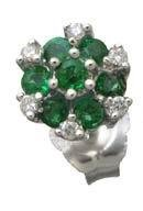 Emerald and Diamond Earrings Reg $310