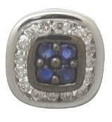 Sapphire and Diamond Earrings $504
