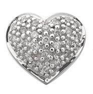 Diamond Heart Pave Earrings Reg $516