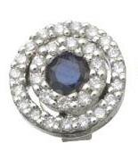 Diamond and Sapphire Circle Earrings Reg $553