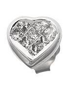Diamond Heart Studs Reg $573