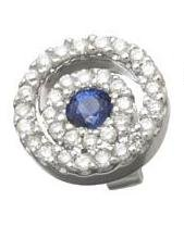 Diamond and Sapphire Circle Earrings Reg $624