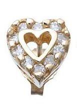 Diamond Heart Earrings Reg $683
