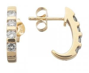 Diamond Earrings .38 TCW Reg $527