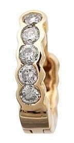 14k Yellow Gold GenuineDiamond Hoop Earrings Reg $552
