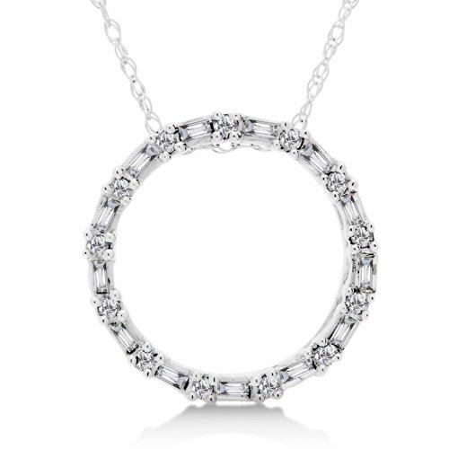 1/5 Carat Diamond Circle Necklace - White Gold Reg $199