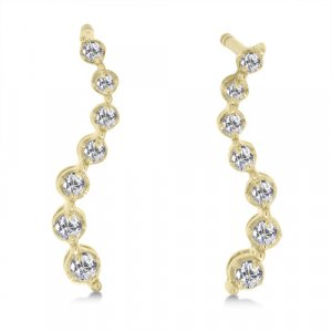 1/5 Carat Diamond Journey Earrings - Yellow Gold Reg $179