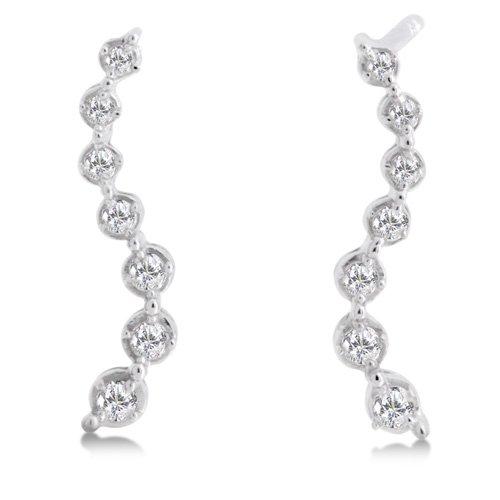 1/5 Carat Diamond Journey Earrings - White Gold Reg $179
