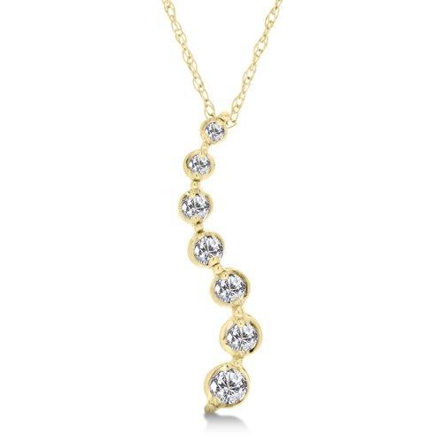 1/5 Carat Diamond Journey pendant/Necklace - Yellow Gold Reg $189