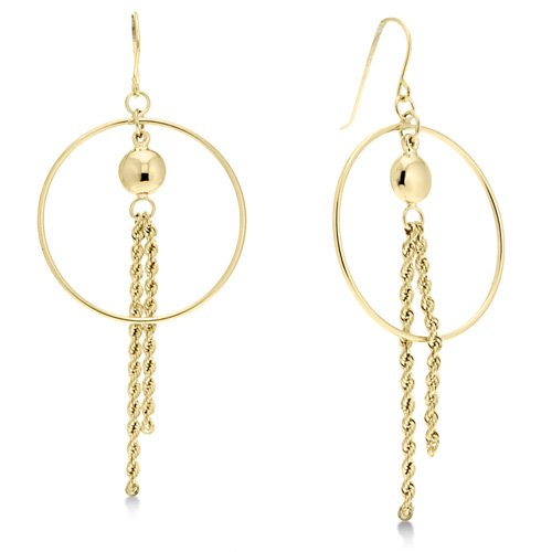 Dangle Yellow Gold Designer Earrings Reg $119