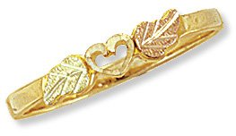 Black Hills Gold Ring - Heart Reg $125
