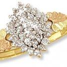 Black Hills Gold Ring with Genuine Diamonds. 0.33 CTW Reg $799