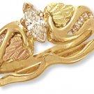 Black Hills 14K Gold Wedding Set w/Genuine Diamonds Reg $1499