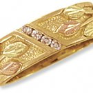 Black Hills 14K Gold Ladies Wedding Band w/Genuine Diamonds Reg $639