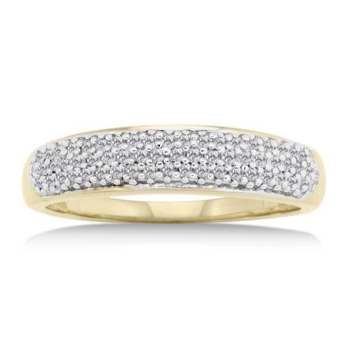 14K Yellow Gold 1/4 Carat Diamond Ring Reg $319