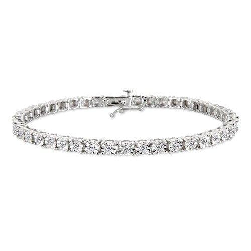 1 Carat Diamond White Gold Bracelet Reg $899