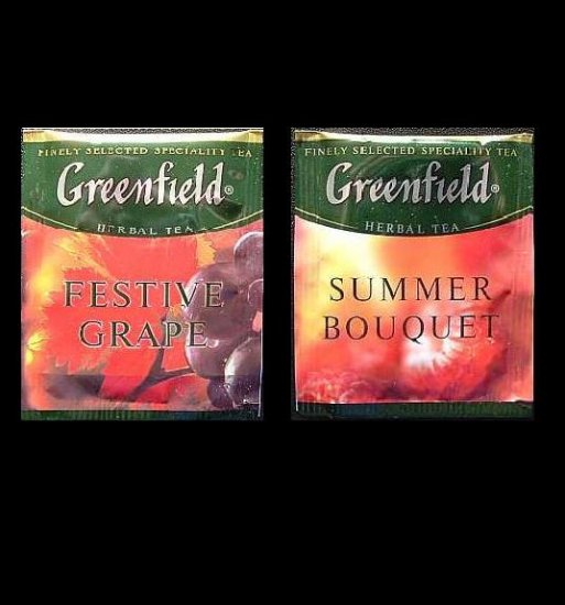 GREENFIELD TEA FESTIVE GRAPE AND SUMMER BOUQUET HERBAL TEA