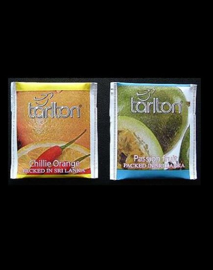 TARLTON TEA CHILLIE ORANGE AND PASSION FRUIT TEA BAGS IN PAPER SEALED ENVELOPES