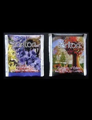 TARLTON TEA HONEY BUSH AND GARDEN OF EDEN TEA BAGS IN PAPER SEALED ENVELOPES
